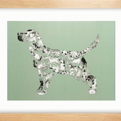 16X12 DOG EAT DOG FRAMED