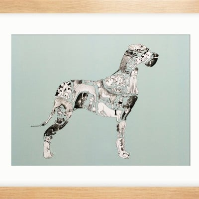 16X12 DOG EAT DOG FRAMED.....