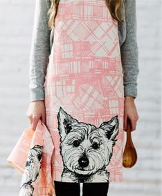 41672 Tartan Westie apron