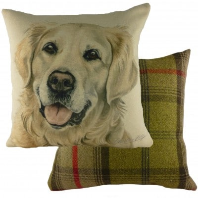 DP923 - 43cm Ke Waggydogz Golden Retriever Cushion