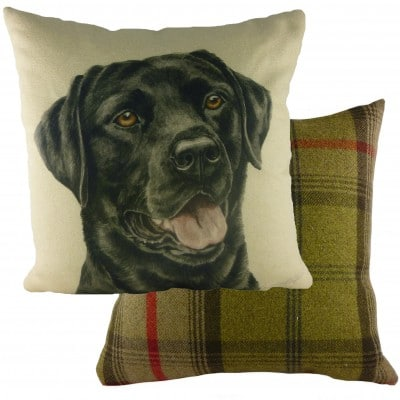 DP924 - 43cm Ke Waggydogz Black Labrador Cushion