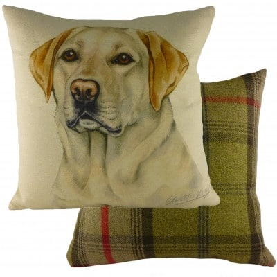 DP928 - 43cm Ke Waggydogz Yellow Labrador Cushion