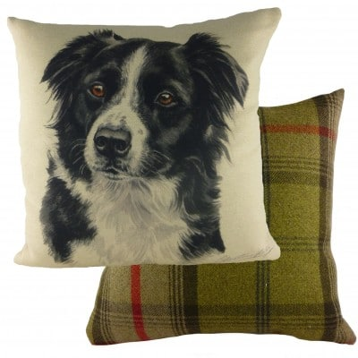 DP929 - 43cm Ke Waggydogz Border Collie Cushion