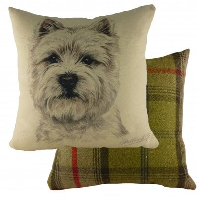 DP932 - 43cm Ke Waggydogz Westie Cushion