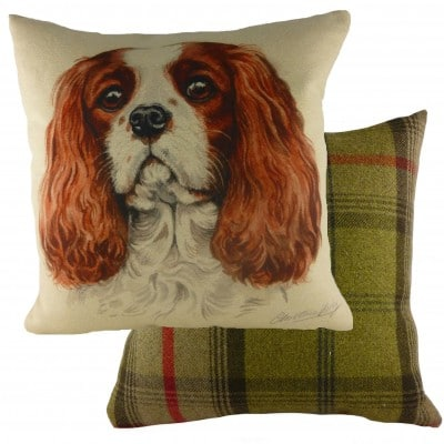 DP933 - 43cm Ke Waggydogz King Charles Cushion