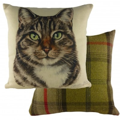 DP934 - 43cm Ke Waggydogz Tabby Cat Cushion