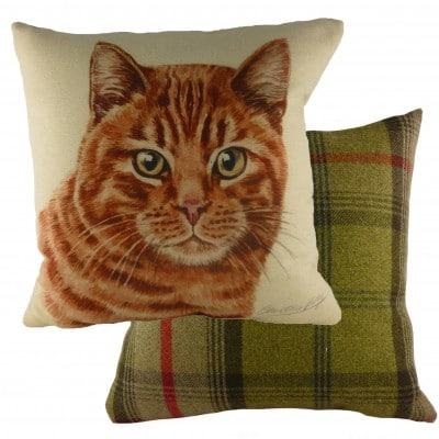 DP935 - 43cm Ke Waggydogz Ginger Cat Cushion