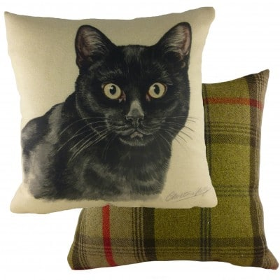 DP937 - 43cm Ke Waggydogz Black Cat Cushion