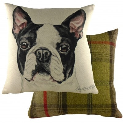 DPA274 - 43cm Ke Waggydogz Boston Terrier Cushion
