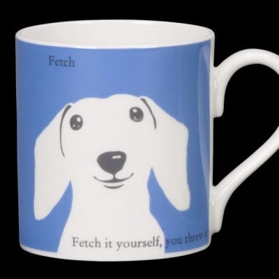 Sausage Dog Mug Blue Fetch