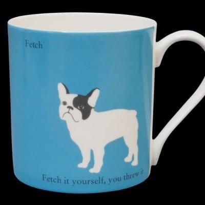 French Bulldog blue mug