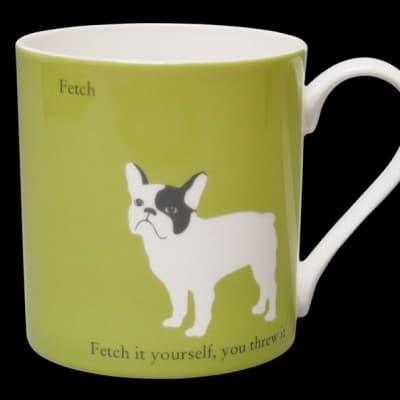 French Bulldog Mug Green Fetch