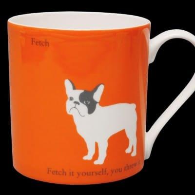 French Bulldog Mug Orange Fetch