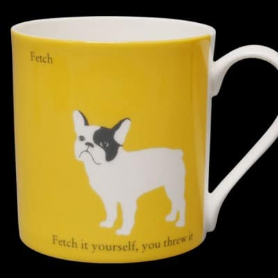 French Bulldog Mug Yellow Fetch