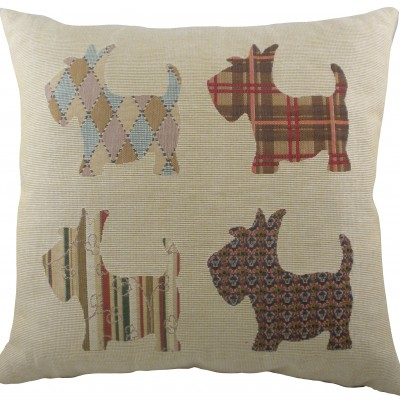 LB444 - 18' Scottie Dogs Cushion