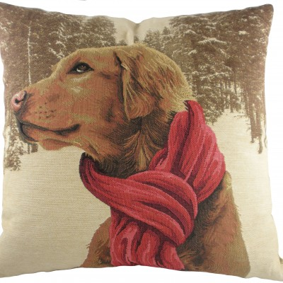 LC032 - 18' French Gun Dog With Scarf  Cushion