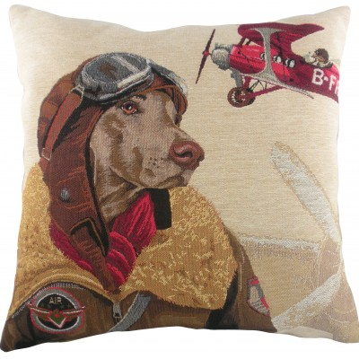 LC042 - 18' Dog Fighters Red Cushion