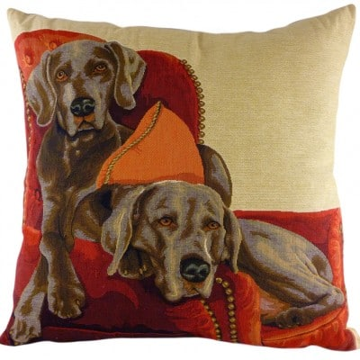 LC556 - 18' Lounging Weimaraners Cushion