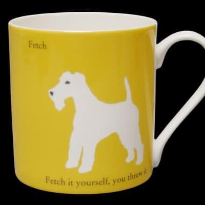 Terrier Mug Yellow Fetch