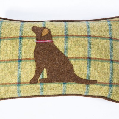 Hannah Williamson Labrador cushion country green