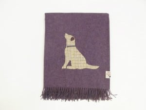 Hannah Williamson Labrador wool throw bramble patch