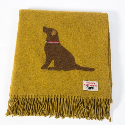 Hannah Williamson Labrador wool throw country green