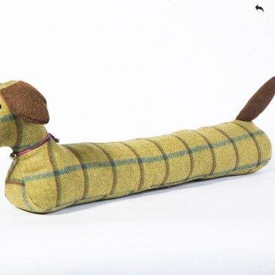 Hannah Williamson sausage dog draught excluder country green