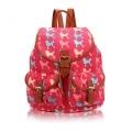 Poodle Retro-style rucksack Fuschia
