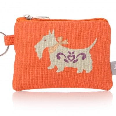 Lisa Buckridge Scottie coin purse orange