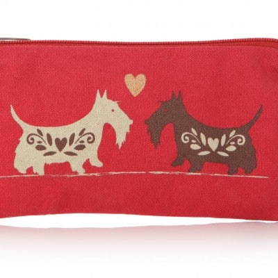 Lisa Buckridge Scottie cosmetic purse red