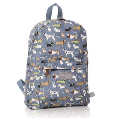 Lisa Buckridge Walkies oilcloth backpack blue