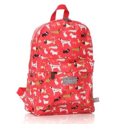 Lisa Buckridge Walkies oilcloth backpack red