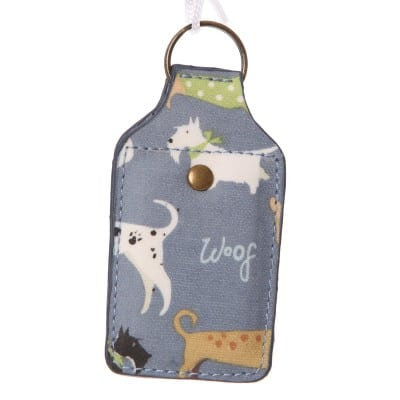 Lisa Buckridge Walkies oilcloth key ring blue