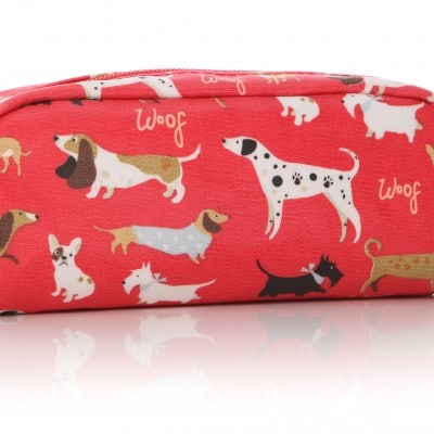 Lisa Buckridge Walkies oilcloth pencil case red