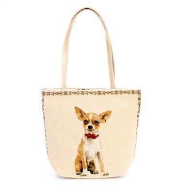 Tapestry Kelly bag Chihuahua