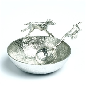 Hound and hare bowl and spoon