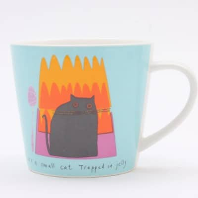 Jane Ormes Thinking Cats cat in jelly mug