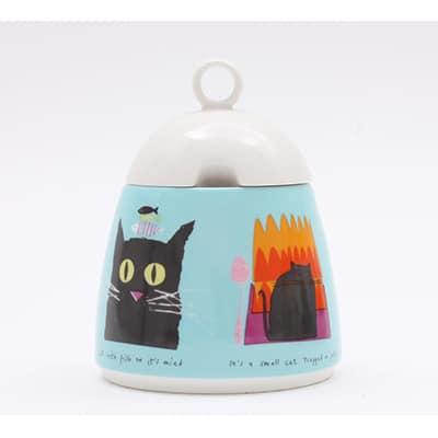 Jane Ormes Thinking Cats sugarpot