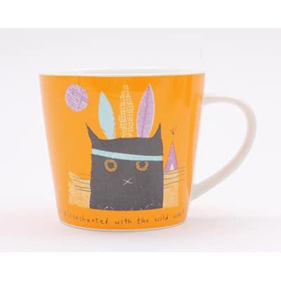 Jane Ormes Thinking Cats wild west cat mug