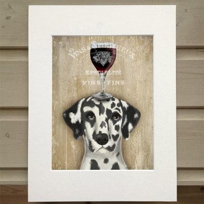 Fab Funky Dalmation wine snob print