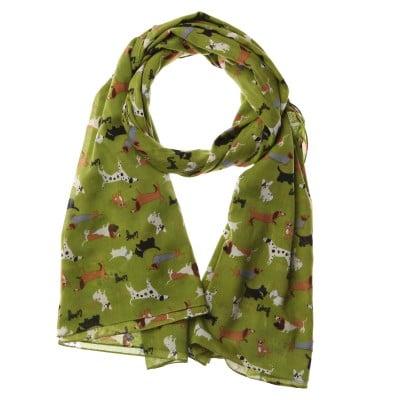 Lisa Buckridge Walkies scarf green