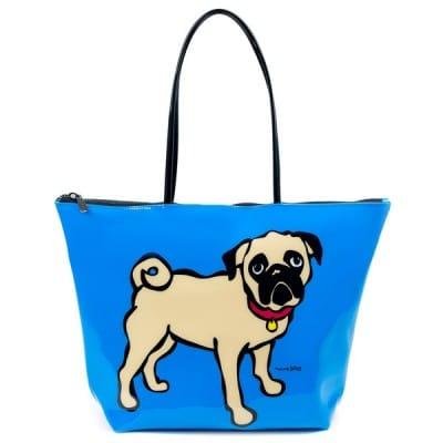 Marc Tetro Pug PVC Tote Bag