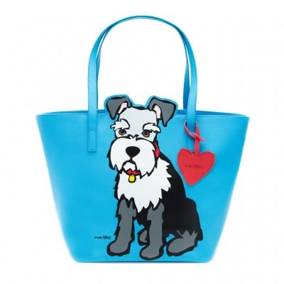 Marc Tetro Schnauzer Tote Bag with Keyring Dangle