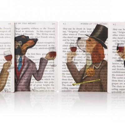 Fab Funky wine snob coasters set of 4