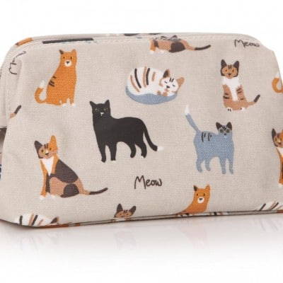 MEOW! RSPCA Cat Oilcloth Cosmetic Bag