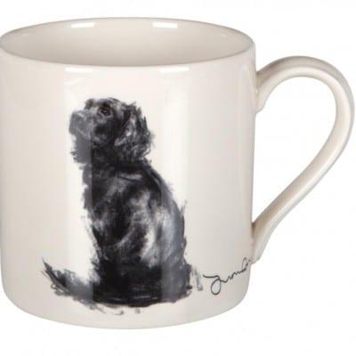 Justine Osborne Fine Art mug Spaniel seated