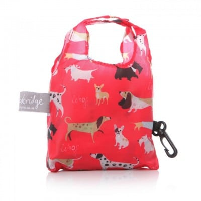 Lisa Buckridge Walkies foldable shopper red