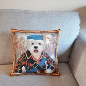 West Highland White Terrier Bonnie Prince Charlie tapestry cushion