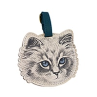Disaster Designs Meow Luggage Tag