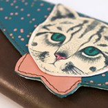 Disaster Designs Meow Envelope Wallet Detail